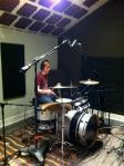 Paul tracking drums for a previously unrecorded song that we're doing for a comp.